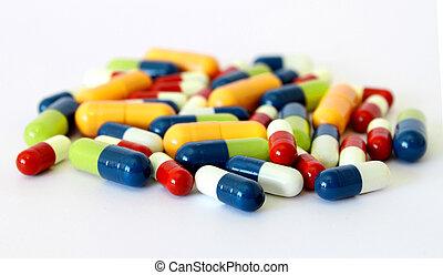bunte, drogen, pillen, kapseln