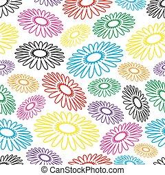 bunte, einfache , abstrakt, blume, seamless, licht, muster, eps10