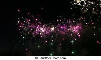 bunte, feuerwerk, feier