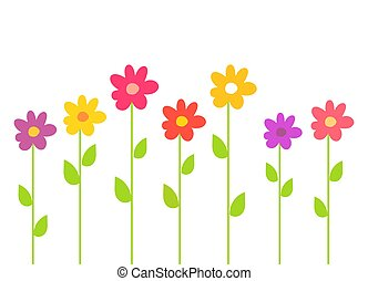 bunte, fruehjahr, flowers.