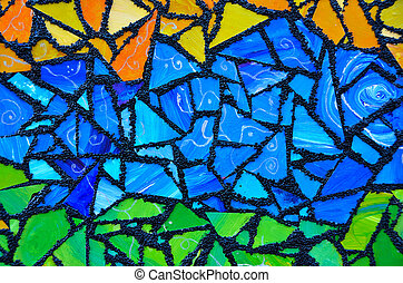 bunte, glasmalerei, abstrakt