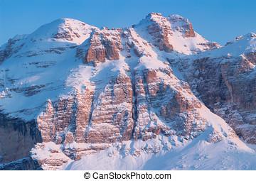bunte, herbstlandschaft, bergen