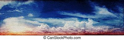 bunte, himmelsgewölbe, und, sonnenaufgang