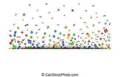 bunte, hintergrund, feier, confetti.
