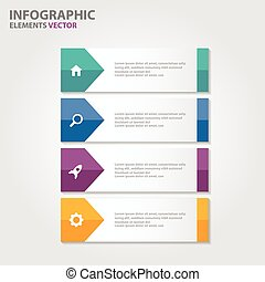 bunte, infographic, elemente, satz