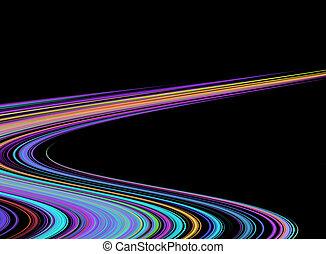 bunte, lichtgeschwindigkeit