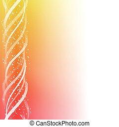 bunte, linien, gelber , hintergrund., glühen, rotes