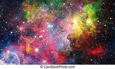 bunte, nebelflecke, und, sternen, in, space., elemente, von, dieser, bild, möbliert, per, nasa.
