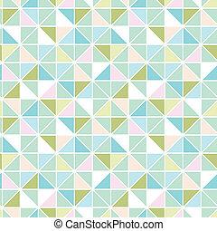bunte, pastell, dreieck, beschaffenheit, seamless, muster, hintergrund