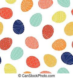 bunte, pattern., eier, -, seamless, hintergrund., ostern