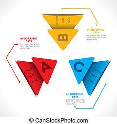 bunte, pfeil, vektor, info-graphics