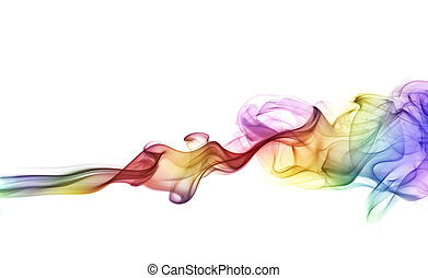 bunte, rauchwolken