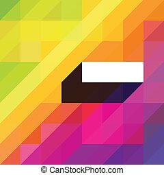 bunte, raum, abstrakt, text., diagonal, formen, vektor, hintergrund