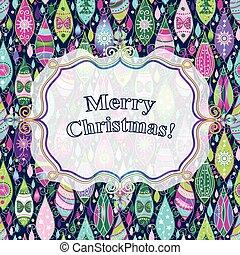bunte, weihnachtskarte, gruß
