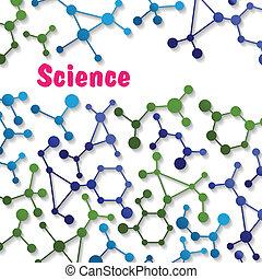 bunte, wissenschaft, hintergrundmuster