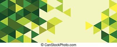bunter , abstrakt, dreieck, backgro