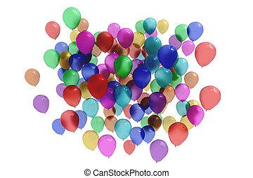 bunter , luftballone