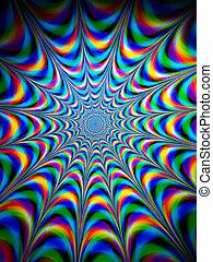 bunter , psychedelisch, hintergrund