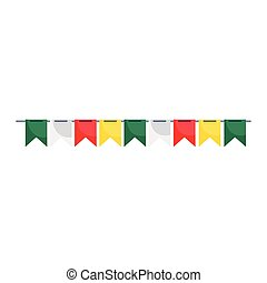 bunting decoration party isolated icon white background