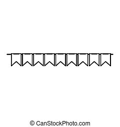 bunting decoration party isolated icon white background line style