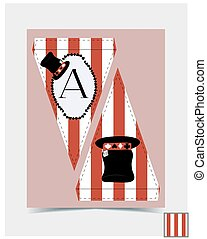Bunting design - Hatter Hat from Wonderland.