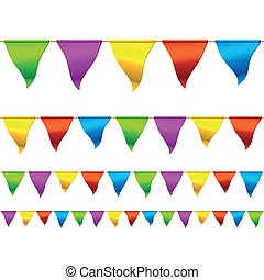 Seamless vector illustration of bunting flags