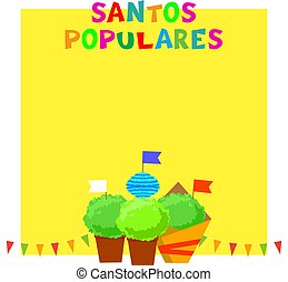 bunting, santos, festival, manjerico, populares, portugues, bandeiras, guirlandas, plants., bandeira