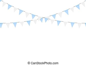 Buntings garlands isolated on white background. Oktoberfest