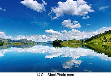 Bunyonyi Lake in Uganda
