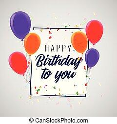 buon compleanno, celebrazione, festa, fondo
