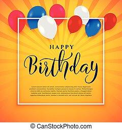 buon compleanno, celebrazione, fondo, con, testo, spazio