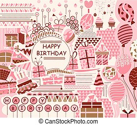buon compleanno, festa, celebrazione, fondo