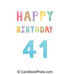 buon compleanno, scheda anniversario, 41th