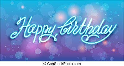 buon compleanno, scrittura, vettore, fondo