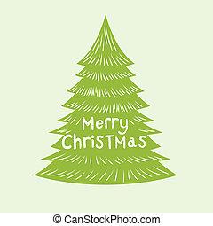 buon natale, albero, vettore