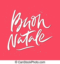Buon natale lettering merry christmas in italian merry christmas buon natale christmas lettering m4hsunfo