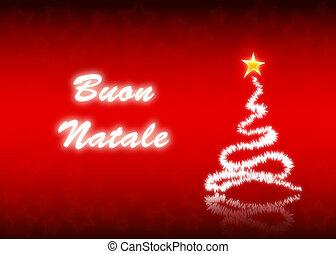 Buon Natale - Merry Christmas postcard in italian language,...