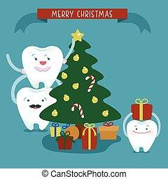 buon natale, famiglia, dentale