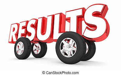 buono, automobile, risultati, illustrazione, corsa, automobile, risultato, 3d