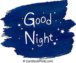 buono, goccia, notte