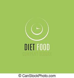 buono, organico, persone, cibo, simbolo, dieta, creativo, idea., disegno, logotipo, agricoltura, concept.
