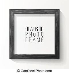 buono, parete, cornice foto, shadow., realistico, vector., presentations., fronte, bianco, morbido, tuo