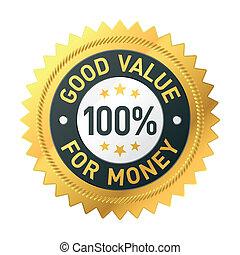 buono, soldi, valore, etichetta
