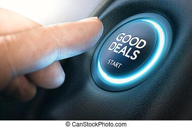 buono, vendite auto, dai carte, automobile, nuovo
