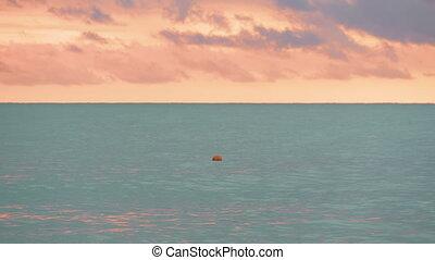 Buoy on the suset sea - Georgia
