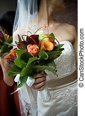 buquê casamento, arranjo flor