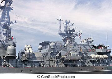 buque insignia, barco militar, gulf.