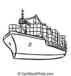 buquede carga, contenedores