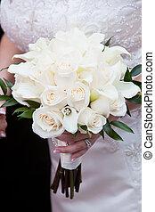 buquet, casamento branco