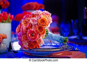 buquet, coloridos, casório
